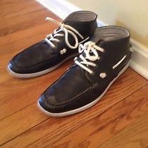 Steve Madden Sz 11.5 Men's Fender Lace Up  Black Ankle Boots Photo