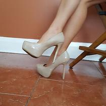 Steve Madden Sz 8.5 M Nude Patent Hidden Platform Pointy Women's Heels Photo