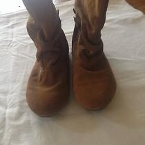 Steve Madden Tan Suede Ankle Booties Photo