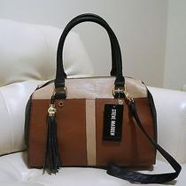 Steve Madden Taupe/cognac/black Satchel Bag Photo