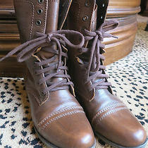 Steve Madden Troopa Brown Booties Size 8.5 Photo
