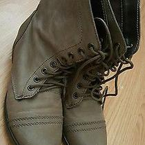 Steve Madden Troopa Stone Leather Military Styled Fashion Boots Size 5 Photo