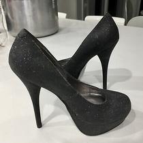 Steve Madden Vaneza Sz 6 Subtle Sparkle  Glitter Stiletto Platform Heels  Photo