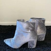 Steve Madden Velvet Boots Booties Silver Size 9 1/2 Photo