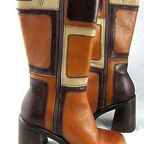 Steve Madden Vintage Look Monster Platform Chunky Heel Boots 7.5 M Boho Rocker  Photo