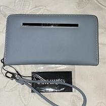 Steve Madden Wallet Wristlet Blue (Light-Blue) Smooth Textured Photo