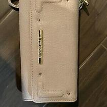Steve Madden Wallet Wristlet Pastel Pink Stamped Logo Zip Around Organizer Photo