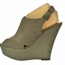 Steve Madden Walloww Womens Shoes Size 7.5 M Taupe Gray Slingback Heels Suede Photo