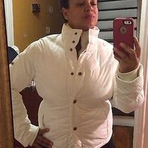 Steve Madden White Fitted Snow Jacket Photo