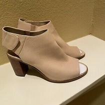 Steve Madden Women's 109 Blush Leather Heeled Open Toe Bootie Nonstop Sz 8.5 Photo