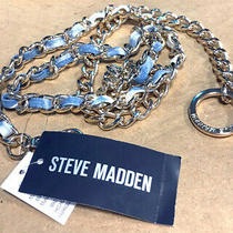 Steve Madden Women's Blue Tie-Dyed Chain Belt Sizes S/m or M/l Photo