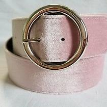 Steve Madden Women's Blush Pink Velvet Belt Size M Xl Photo