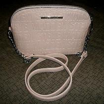 Steve Madden Women's Bmaggie Logo Blush Pink Silver Chain Crossbody Bag Handbag Photo