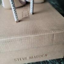Steve Madden Women's Collette Embellished Suede Dress Sandals Blush Glit Photo