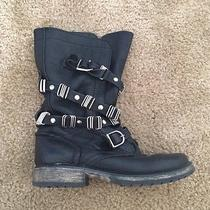 Steve Madden Women's Motorcycle Leather and Detailed Boots Photo