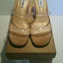 Steve Madden Women's Shoes Issy Open Toe Casual Mule Sandals Clear Size 8.5  Photo