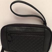 Steve Madden Women's Wallet Wristlet Quilted Black Clutch Iphone 6  Holder  Photo