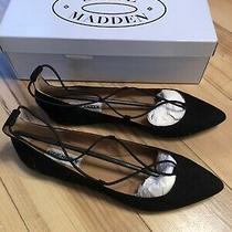 Steve Madden Womens Bora Black Flats Shoes 9.5 Nib Photo