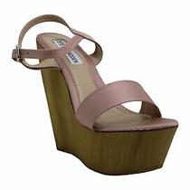 Steve Madden Womens Bria Open Toe Casual Ankle Strap Blush Satin Size 8.0 Upyt Photo