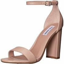 Steve Madden Womens Carrson Leather Open Toe Special Blush Leather Size 6.0 Jv Photo