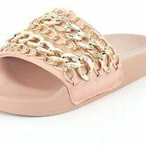 Steve Madden Womens Chains Open Toe Casual Slide Sandals Blush Size 6.0 Ipjo Photo
