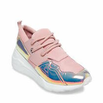 Steve Madden Womens Cliff Leather Low Top Lace Up Fashion Blush Size 8.5 Wwfs Photo