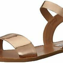 Steve Madden Womens Donddi Leather Open Toe Casual Slide Rose Gold Size 6.0 S0 Photo
