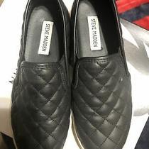Steve Madden Womens Ecentrcq Low Top Slip on Fashion Sneakers Black Size 7 Photo