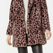 Steve Madden Womens Faux Fur Fashion Jacket New With Tags Pink Leopard Photo