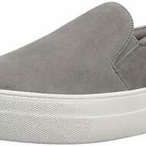Steve Madden Womens Gills Leather Low Top Slip on Fashion Grey Suede Size 9.5 Photo