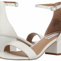 Steve Madden Womens Irenee Open Toe Formal Ankle Strap White Leather Size 7.0 Photo