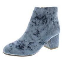 Steve Madden Womens Irina Blue Velvet Booties Shoes 5.5 Medium (Bm) Bhfo 7902 Photo