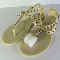 Steve Madden Womens Jelybely Studded T Strap Flat Sandal Shoes Blush Us 8 Photo