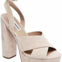 Steve Madden Womens Jodi Leather Open Toe Ankle Strap Platform Blush Size 8.5 Photo