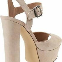 Steve Madden Womens Jodi P Leather Open Toe Special Blush Suede Size 6.0 Qo7y Photo