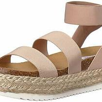 Steve Madden Womens Kimmie Fabric Open Toe Casual Strappy Sandals Blush Size Photo