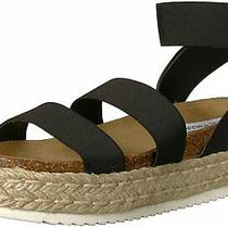 Steve Madden Womens Kimmie Open Toe Casual Espadrille Sandals Black Size 7.0 2 Photo