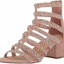 Steve Madden Womens Mania Open Toe Casual Ankle Strap Blush Multi Size 6.0 Piv Photo