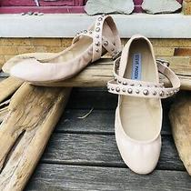 Steve Madden Womens Shoes Size 8.5 Blush Pink Flats Studded Ankle Wrap Photo