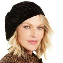 Steve Madden Womens Solid Chenille Beret Hat Black One Size Fits Most Photo