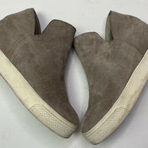 Steve Madden Womens Wedgie Fabric Hight Top Grey Gray Suede Size 7.5 Used Photo