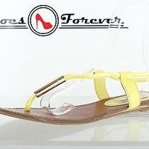 Steve Madden Yellow Thong Sandals Shoes Sz. 11 Great Photo