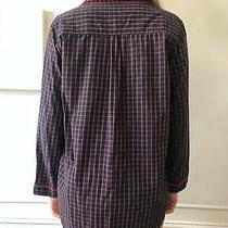 Steven Alan Check Print Pajama Shirt Size M Photo