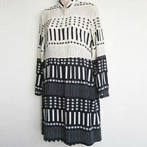 Steven Alan Long Sleeve Collared 100% Silk Shirt Dress in Geometric Print Size 4 Photo