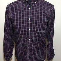 Steven Alan Navy Plaid - S - Mother of Pearl Buttons - Made Usa - Button-Thru Photo
