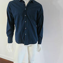 Steven Alan Shirt Size L Blue Regular Cuff 100% Cotton Photo