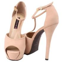 Steven by Steve Madden Angels Womens Blush Leather Platform High Heel Shoes Sz 8 Photo