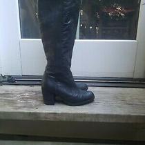 Steven by Steve Madden Black Leather Boots. Size 6 Photo