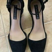Steven by Steve Madden Black Suede Pointed Toe Heels Size 9.5 Photo