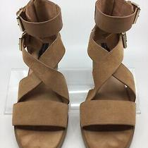 Steven by Steve Madden Elinda Tan Suede Leather Sandals Size 8.5 Photo